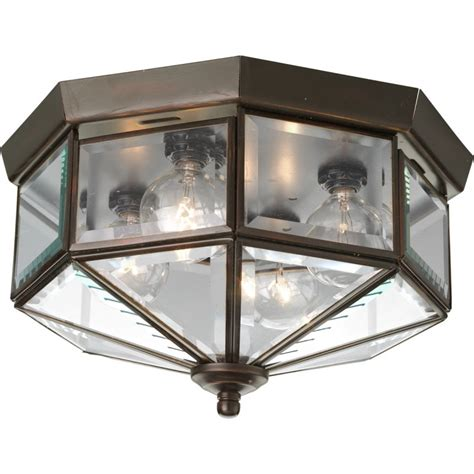progress outdoor lighting fixtures progress lighting p5789 20 antique bronze 4 light flush mount outdoor ceiling fixture with