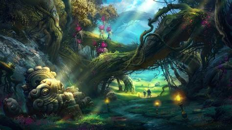 magic painting free forest wallpapers wallpaper cave
