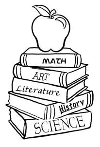 book coloring pages stack of books cliparts co