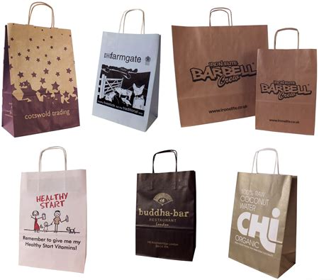 printable paper bags printed paper bags with twisted handles burgass carrier bags