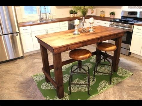 easy kitchen island the 20 kitchen island easy diy project youtube