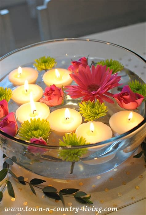 do tea lights float how to floating tea light candles town country living
