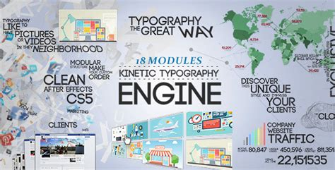 Kinetic Typography Engine Openers Text Infographic Trailer Kinetic Typography After Effects Template Free