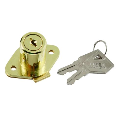 First Watch Security Polished Brass Cabinet And Drawer Home Depot Cabinet Locks