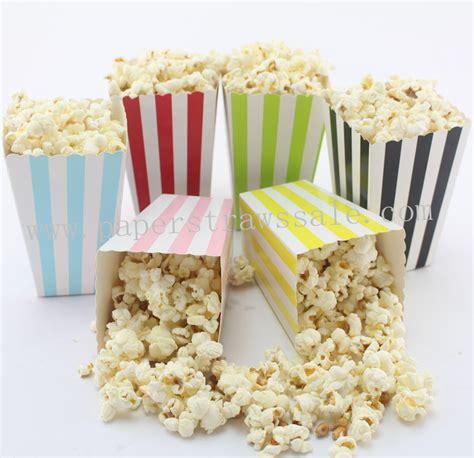 Popcorn Box Baby Shark striped popcorn boxes 360pcs mix 6 colors striped paper