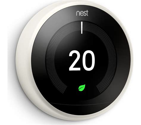 NEST Learning Thermostat   3rd Generation, White Deals   PC World