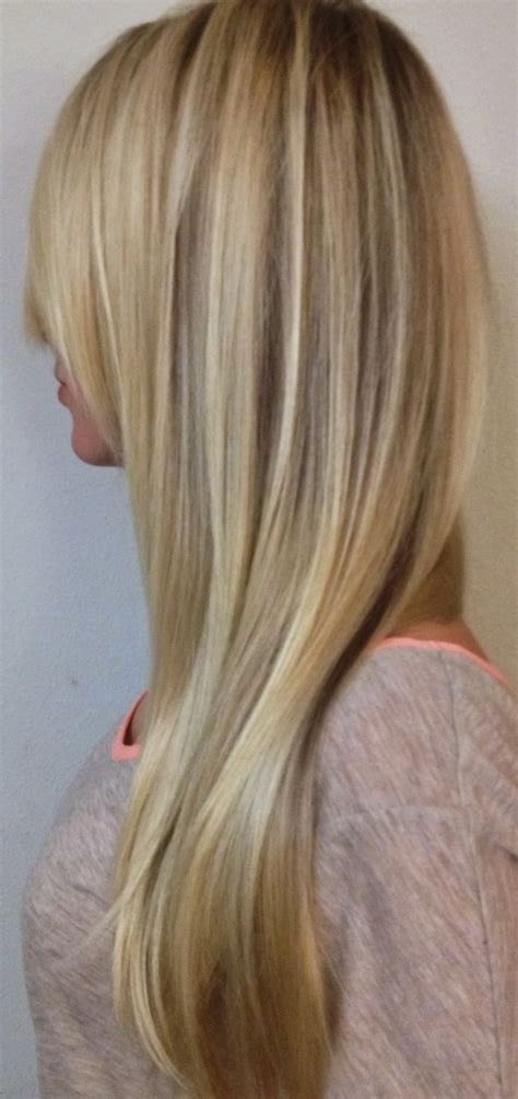 Blonde Balayage Highlights Straight Hair | blonde dimensional balayage highlights long