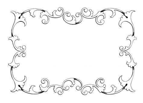7 best images of elegant printable labels elegant elegant border templates clipart best