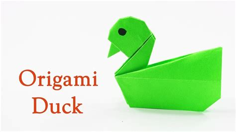 How To Make A Paper Duck Step By Step - how to make a paper duck easy origami duck tutorial