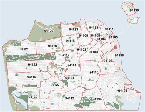 san francisco map with zip codes san francisco zip codes map michigan map