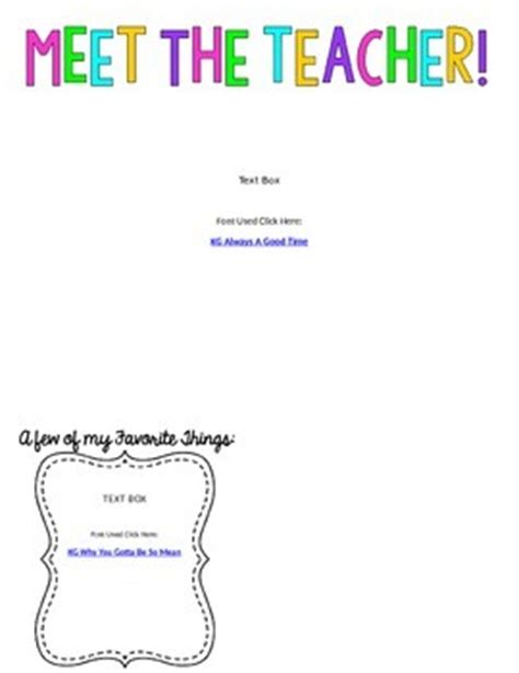 editable meet teacher letter template freebie