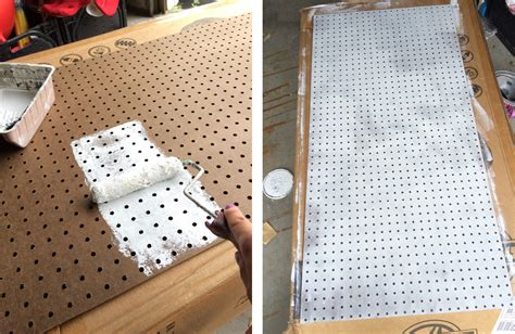 diy pegboard how to paint pegboard build a pegboard frame jenna burger