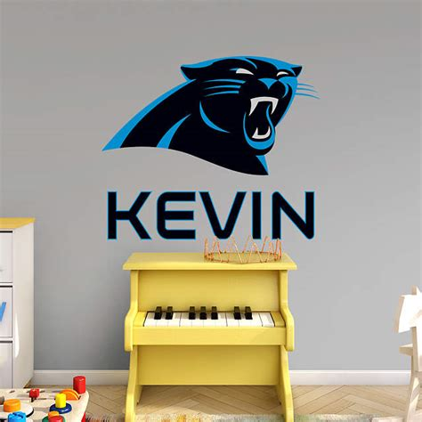 carolina panthers room decor carolina panthers stacked personalized name wall decal shop fathead 174 for wall d 233 cor