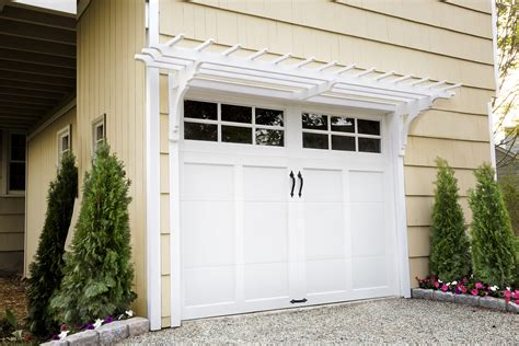 Garage Door Pergola by How To Build A Garage Pergola This House
