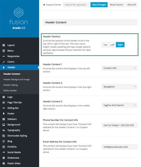 avada theme header height position transparency theme fusion