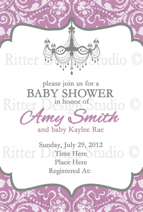 Fancy Baby Showers by Fancy Baby Shower Invitations Free Printable Baby Shower