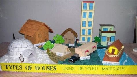 school projects recycled materials  terraced house