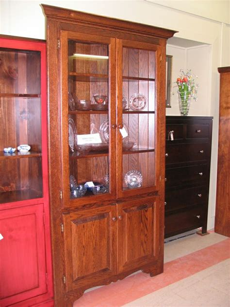 oak corner china cabinet woodworking projects plans