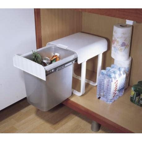 poubelles sous evier poubelle coulissante sous evier 34l manuelle accessoires
