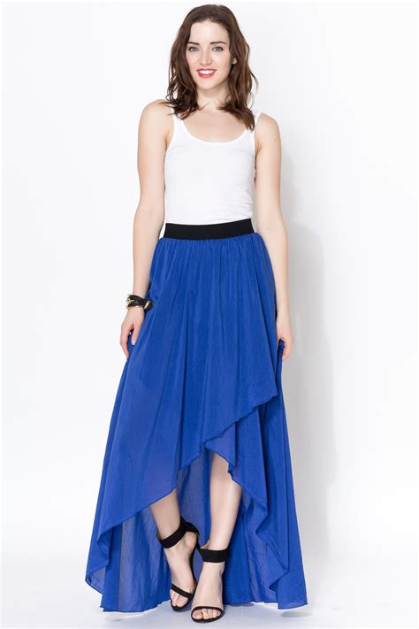 linden blue ruffled maxi skirt from by clothes