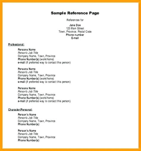 References Resume Layout On A Letsdeliver Co Professional References Template