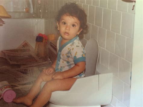 little boy potty training outside the evolution of potty training
