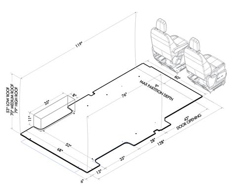 layout of wheelhouse ford transit advantage outfitters new york