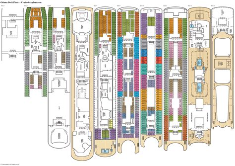 cruise ship floor plan oriana deck plans diagrams pictures