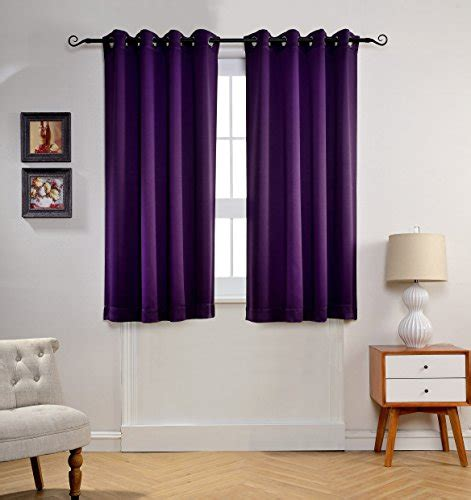 black out window panels dark purple bedroom curtains with mysky home solid grommet top thermal insulated window