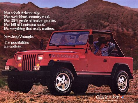 jeep wrangler ads the history of the all jeep wrangler