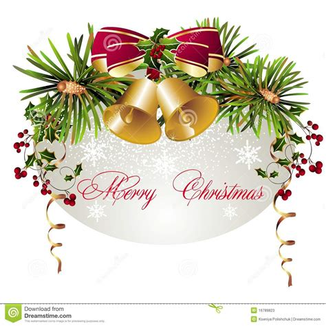 merry christmas background  bells stock  image