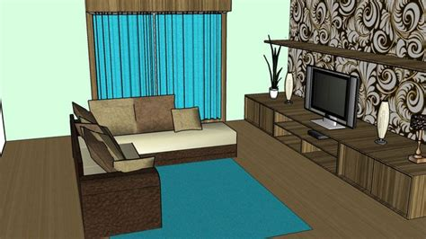 design apartment sketchup sketchup components 3d warehouse living room modern