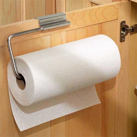 kitchen cabinet towel holder over cabinet door paper towel holder stainless in paper