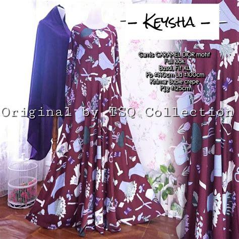 Setelan Gamis Wolfice Klok Umbrella 4 Meter Khimar Ceruti 2 Layer baju gamis remaja keysha syar i busana muslim modern