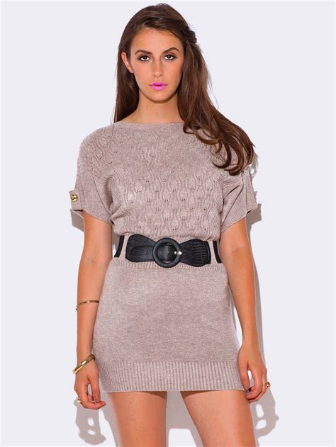 Sleeve Cable Knit Dress beige cable knit dolman sleeve sweater dress