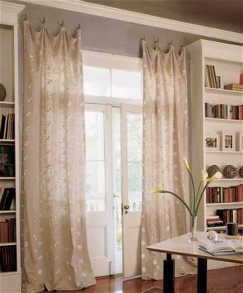 window curtains with hooks for the french door in the bedroom not this curtain just