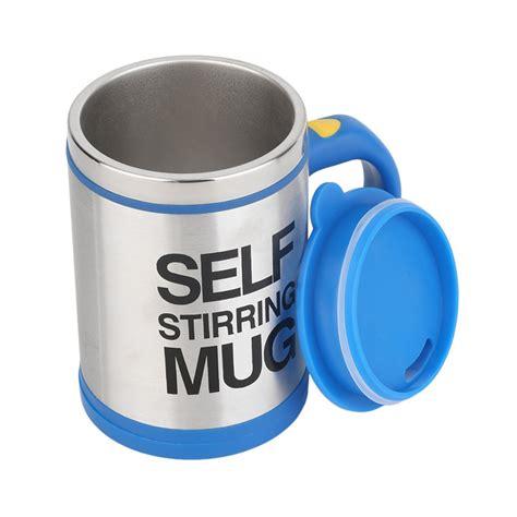 Gelas Pengaduk Kopi Otomatis Kerennnn Kakkkkkssss jual meilyngiftshop self stirring mug gelas pengaduk otomatis biru harga kualitas