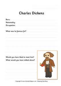 charles dickens biography ks1 charles dickens worksheets