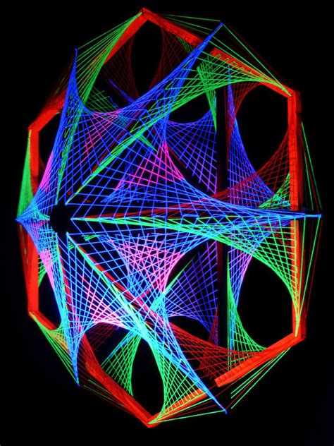 String 3d - 115cm 3d string deko quot out of space quot blacklight