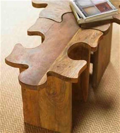 puzzle piece decor  jigsaw puzzle table  stool