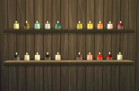 le 4 candele my sims 4 glass candles by omorfimera