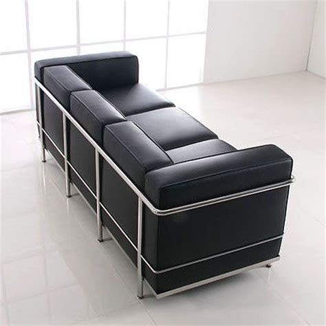 le corbusier 3 seater sofa le corbusier lc2 sofa 3 seater mooka modern furniture