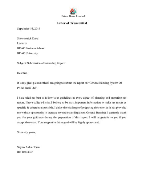Withdrawal Letter Of Indemnification Internship Report