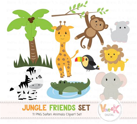 safari animals clip safari jungle animals clip animals clipart
