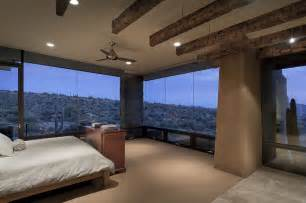 glass bedroom bedroom glass walls modern home in scottsdale arizona
