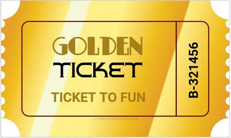 Golden Ticket Templates For Ms Word Formal Word Templates Free Golden Ticket Template Editable