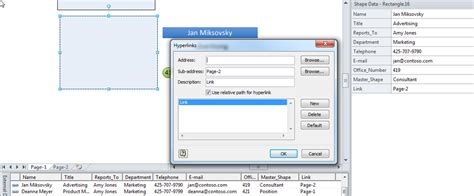 visio link creating shape to page hyperlinks automatically using link