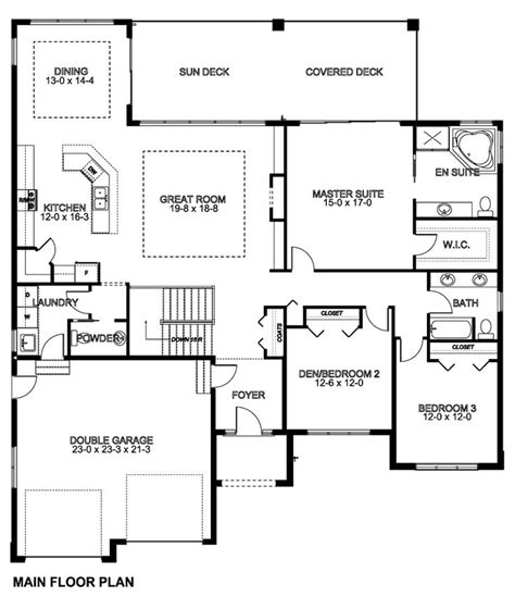 fantastic one level house plans with basement 1661 square foot luxamcc