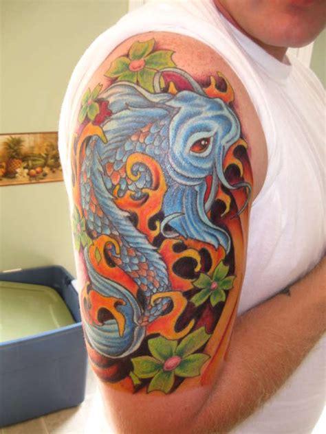 tattoo koi blumen koi fisch mit blumen tattoo am unterarm tattooimages biz