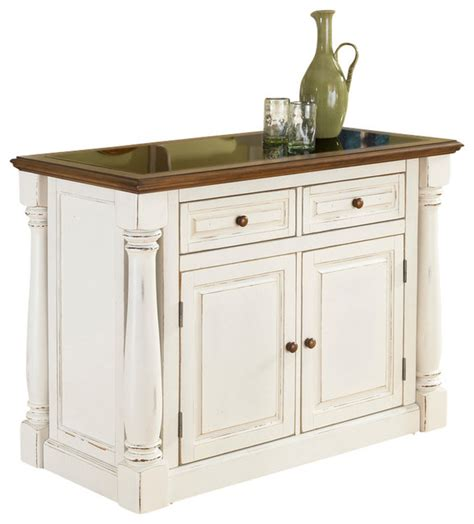 monarch antiqued white kitchen island traditional
